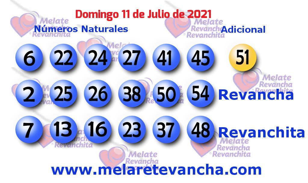 Melate del 2021-07-11