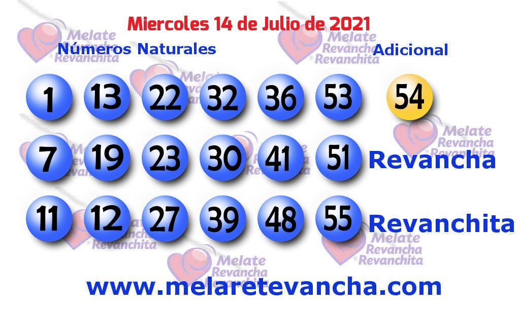 Melate del 2021-07-14