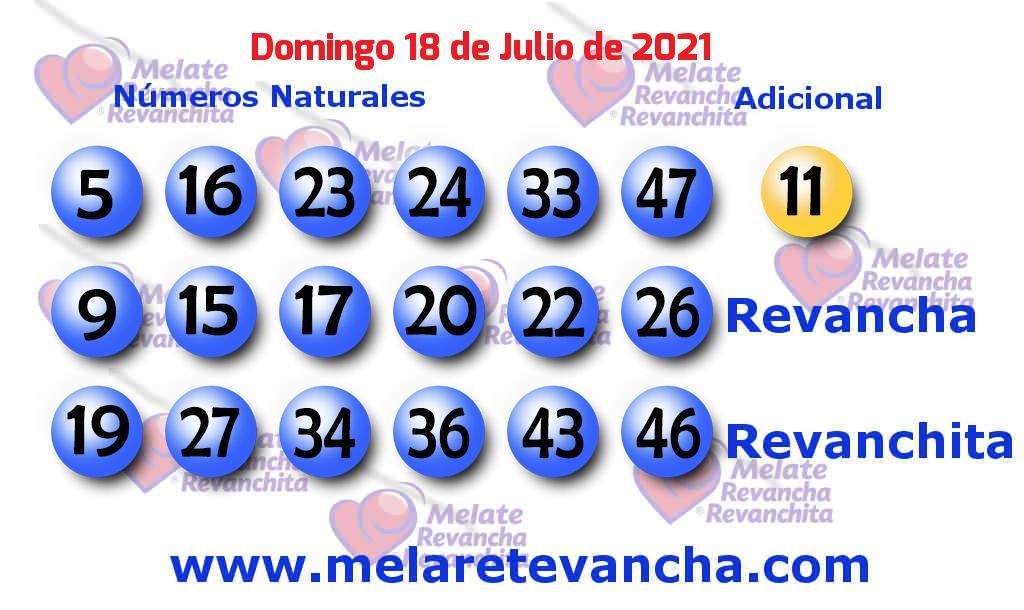 Melate del 2021-07-18