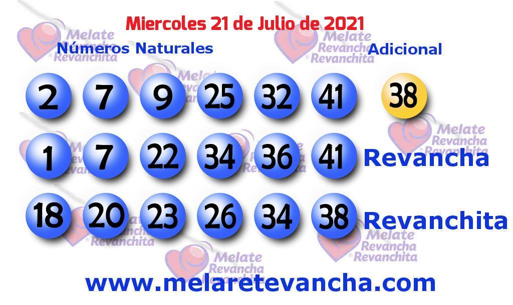 Melate del 2021-07-21