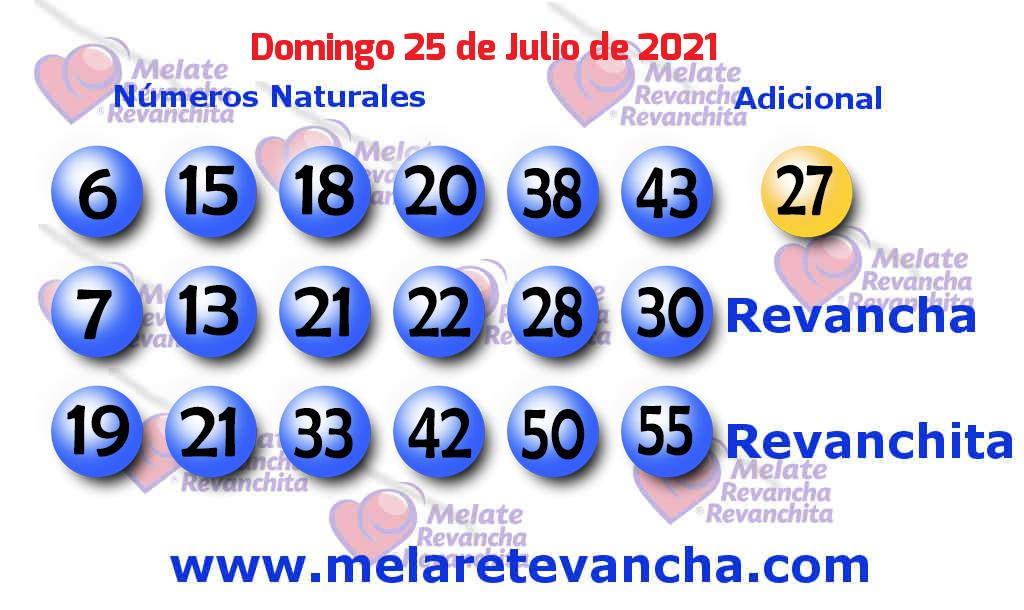 Melate del 2021-07-25