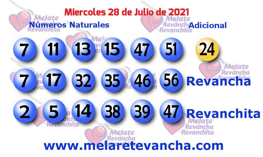 Melate del 2021-07-28