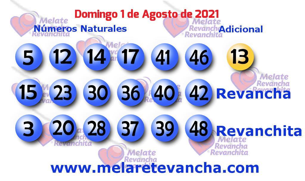 Melate del 2021-08-01
