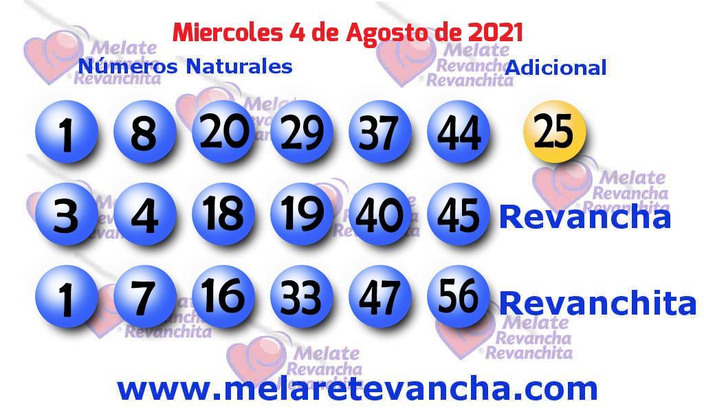 Melate del 2021-08-04