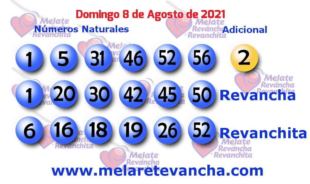 Melate del 2021-08-08