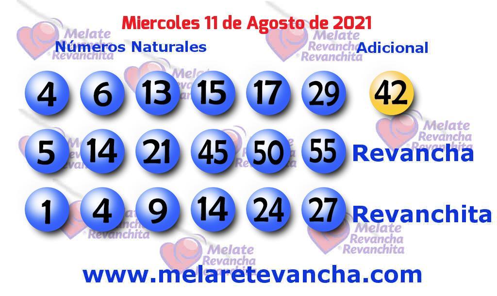 Melate del 2021-08-11