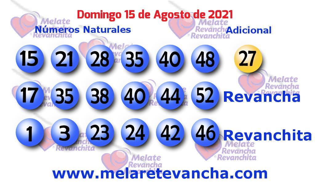 Melate del 2021-08-15