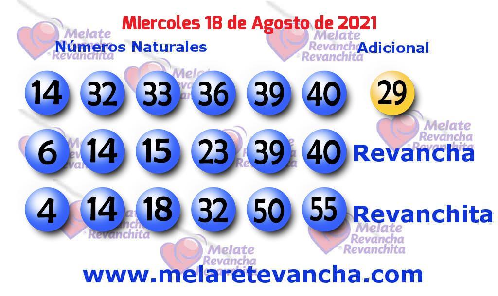 Melate del 2021-08-18