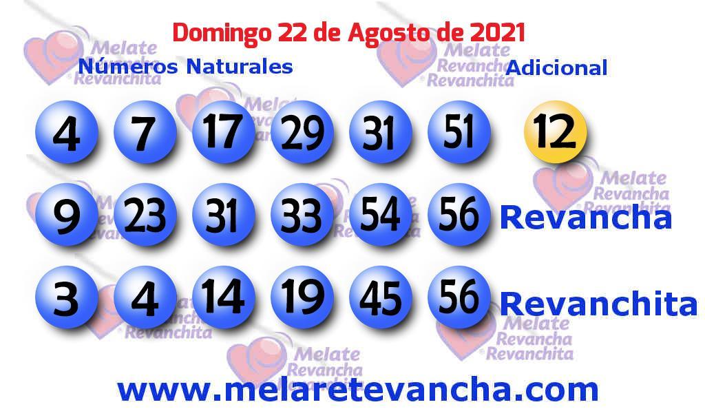 Melate del 2021-08-22