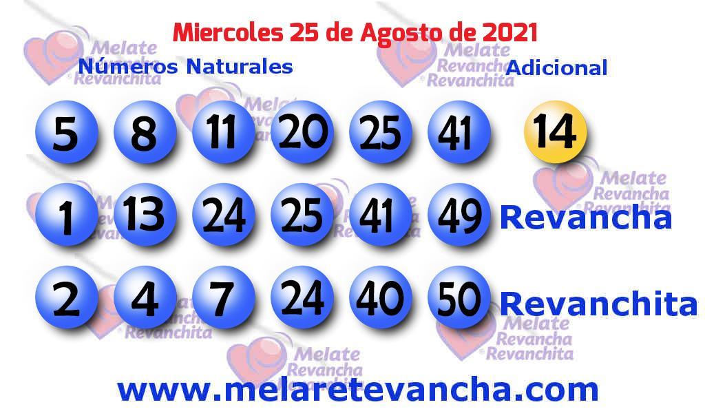 Melate del 2021-08-25
