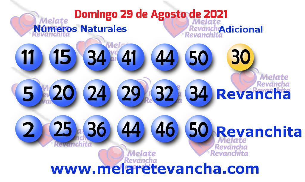 Melate del 2021-08-29