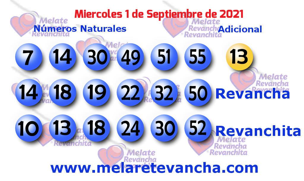 Melate del 2021-09-01