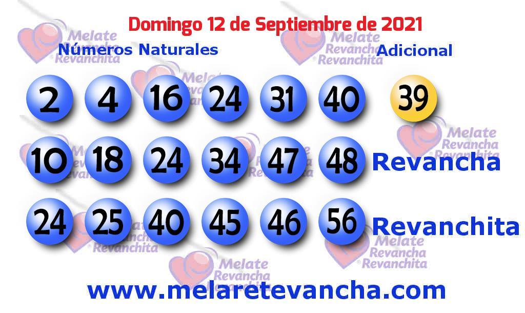 Melate del 2021-09-12