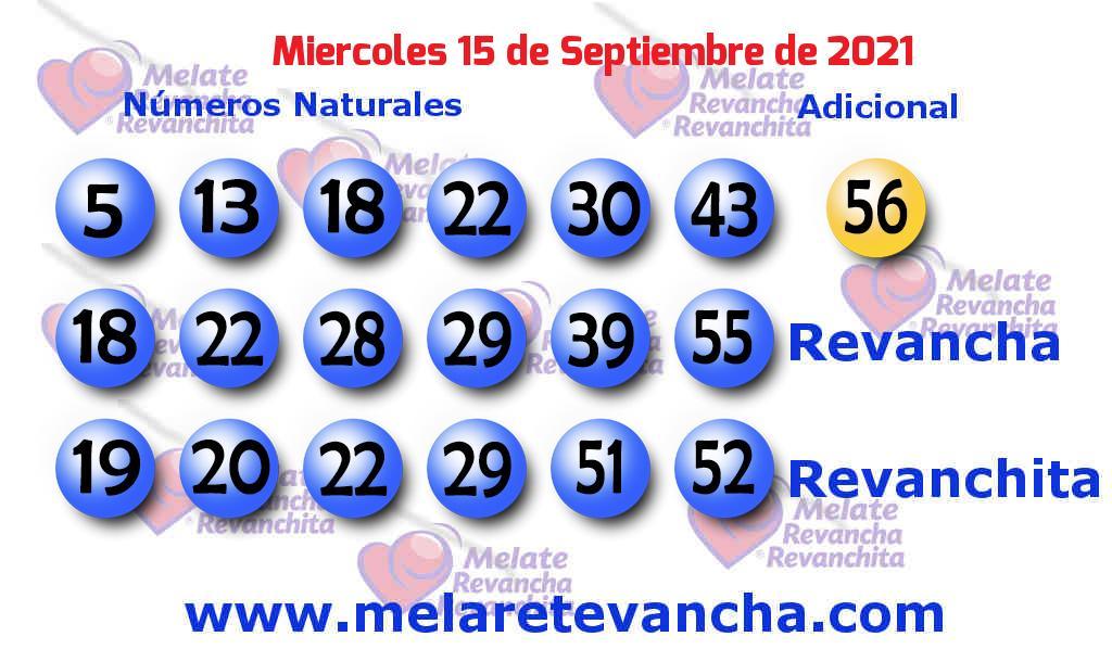 Melate del 2021-09-15