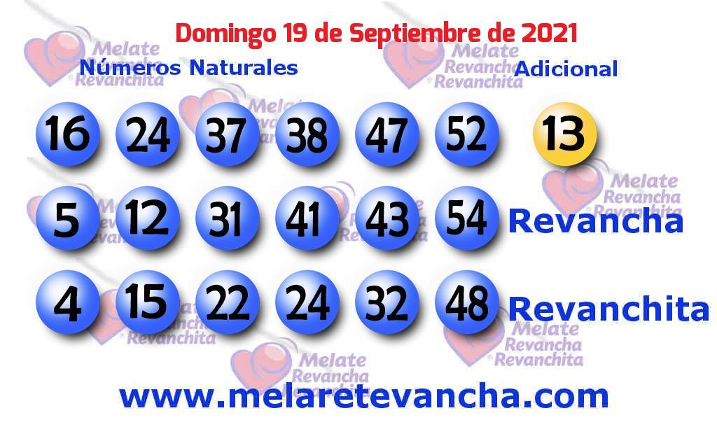 Melate del 2021-09-19