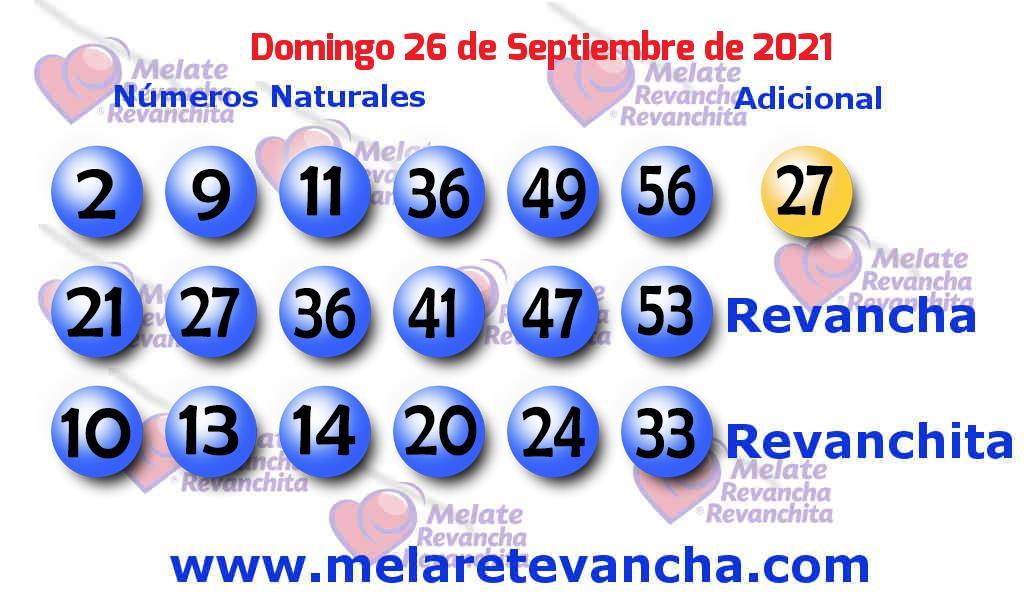 Melate del 2021-09-26