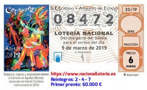 Comprobar loteria sabado 9 marzo 2019