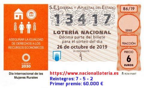 Décimo del Sábado 26 de Octubre de 2019