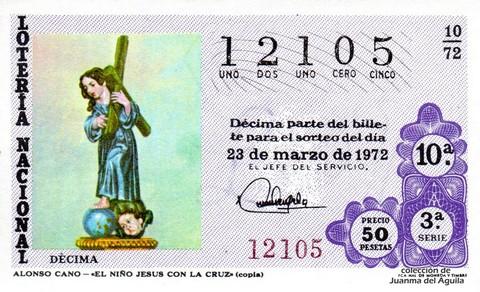 Décimo de Lotería 1972 / 10