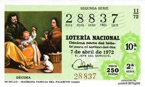 Décimo de Lotería 1972 / 11