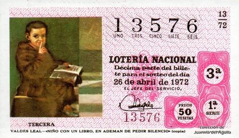 Décimo de Lotería 1972 / 13