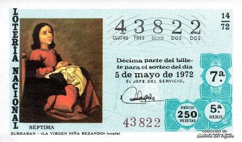 Décimo de Lotería 1972 / 14
