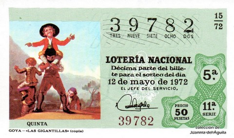 Décimo de Lotería 1972 / 15