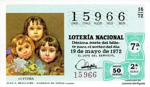 Décimo de Lotería 1972 / 16