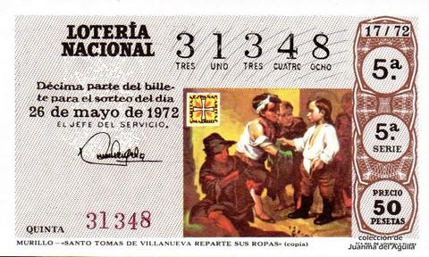 Décimo de Lotería 1972 / 17