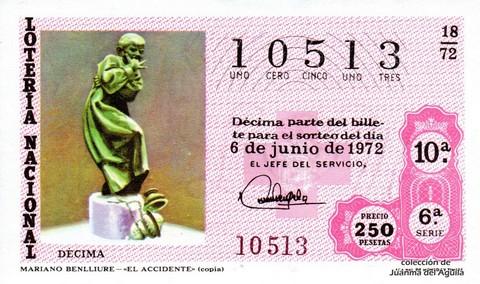 Décimo de Lotería 1972 / 18