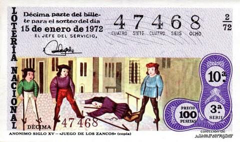 Décimo de Lotería 1972 / 2