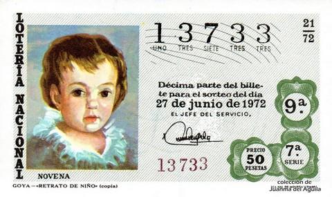 Décimo de Lotería 1972 / 21