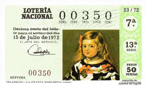 Décimo de Lotería 1972 / 23
