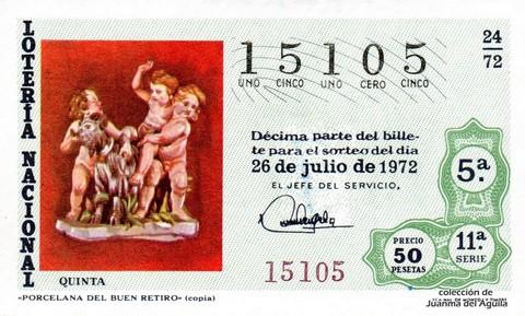 Décimo de Lotería 1972 / 24