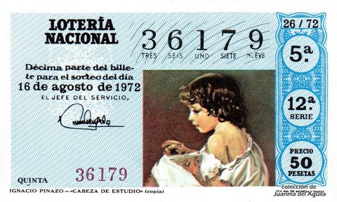 Décimo de Lotería 1972 / 26