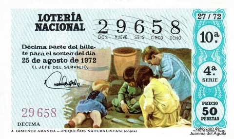 Décimo de Lotería 1972 / 27