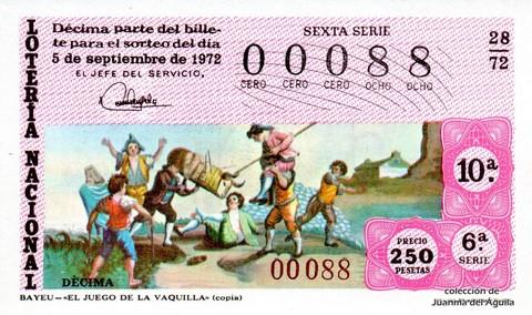 Décimo de Lotería 1972 / 28