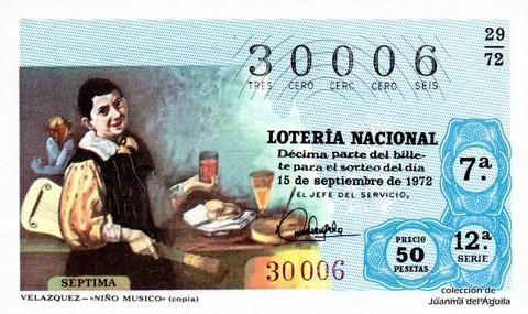 Décimo de Lotería 1972 / 29