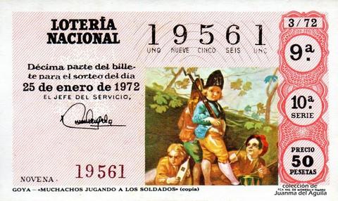 Décimo de Lotería 1972 / 3