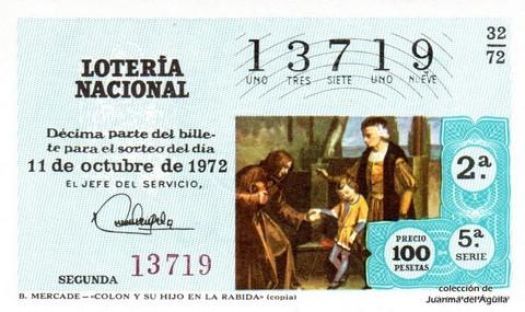 Décimo de Lotería 1972 / 32