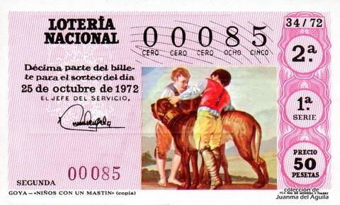 Décimo de Lotería 1972 / 34