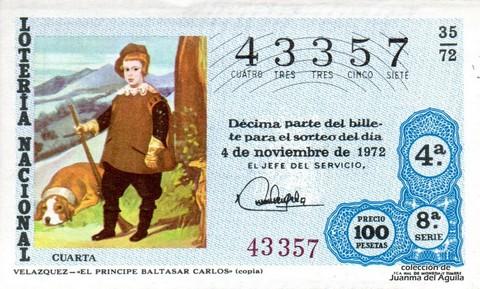 Décimo de Lotería 1972 / 35