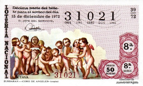 Décimo de Lotería 1972 / 39