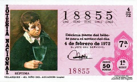 Décimo de Lotería 1972 / 4