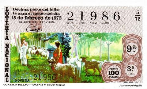 Décimo de Lotería 1972 / 5
