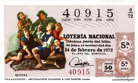 Décimo de Lotería 1972 / 6