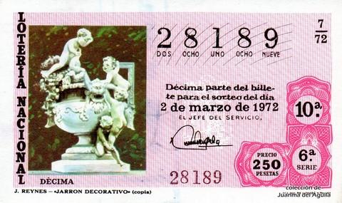 Décimo de Lotería 1972 / 7