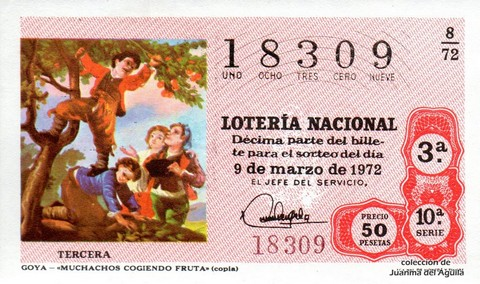 Décimo de Lotería 1972 / 8