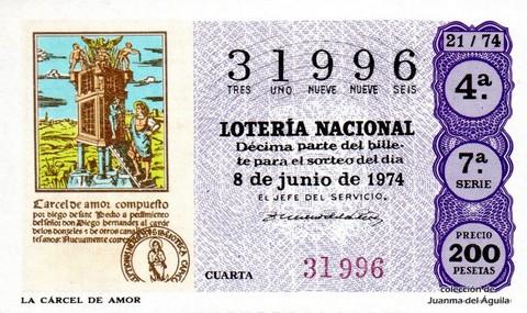 Décimo de Lotería 1974 / 21
