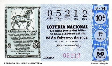 Décimo de Lotería 1974 / 8